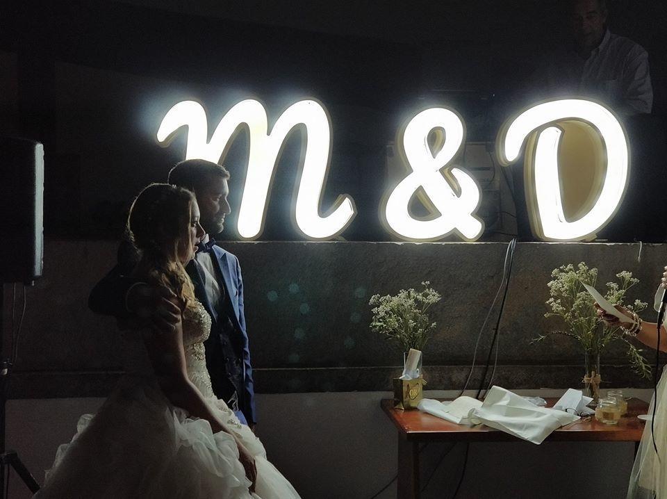 letras iluminadas para casamento
