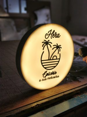 reclame circular luminoso